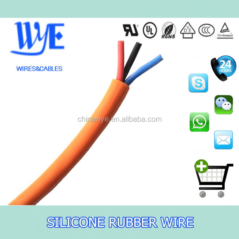 heat resistance multi conductor cable silicone multi core cable