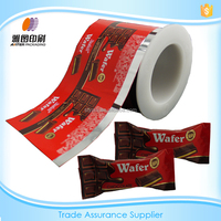 Plastic cold laminating chocolate wrapper packaging film