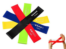 Factory direct manufacturer latex resistance Yoga exercise loop bands set of 5level bands