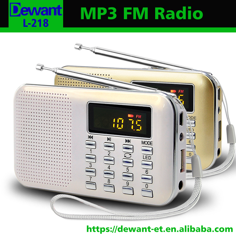 L-218 FM radio digital mini clip mp3 player manual