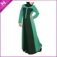 muslim color mixed long jubah dress