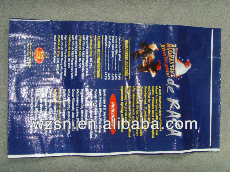 20kg pp woven chicken feed bag