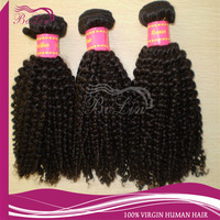 China Supplier New Products 2014 Brazilian Kinky Curly Remy Hair Weave