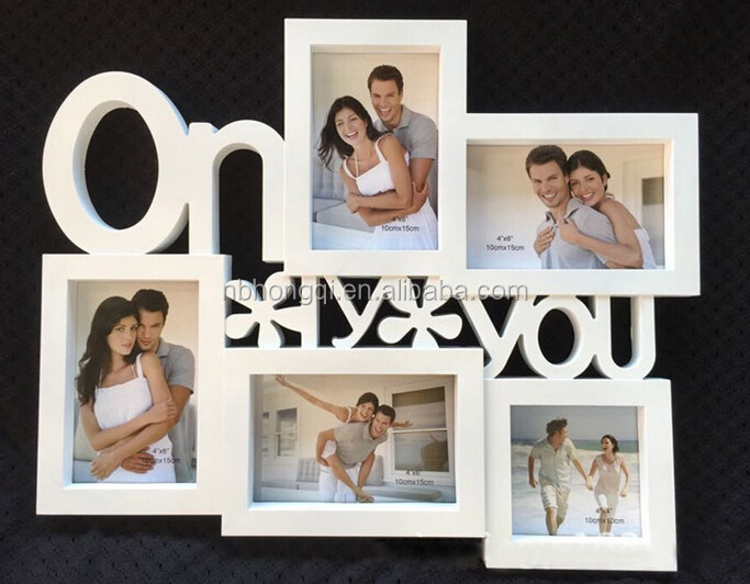 Latest Design European Style Square LOVE 3 Opening Wall Hanging Home Decoration LOVE Photo Picture Frame