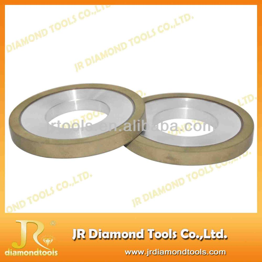 Flat resin bond lapidary diamond grinding wheel