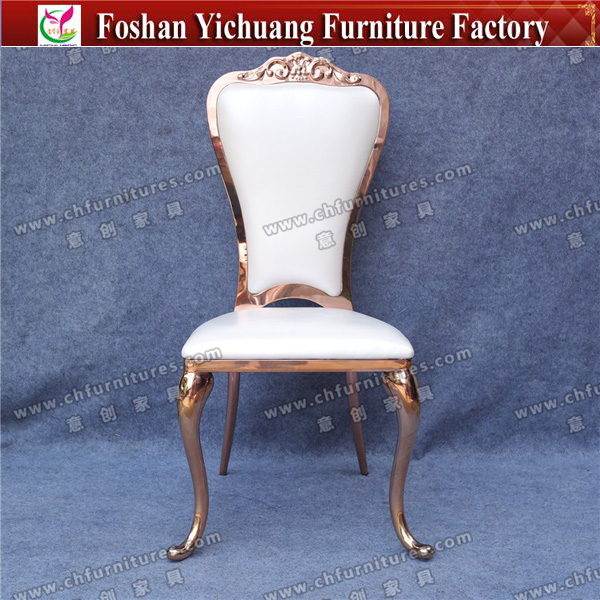 China wedding cheap rose gold stainless steel dining chair for sale YC-SS31