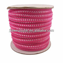 Pink polyester Nylon jacquard elastic for clothes
