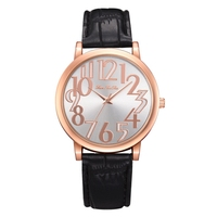 Top Leisure Brand Concise And Easy Ladies Watches Leather Strap Sport Watch Summer Dress Simple Quartz Watch