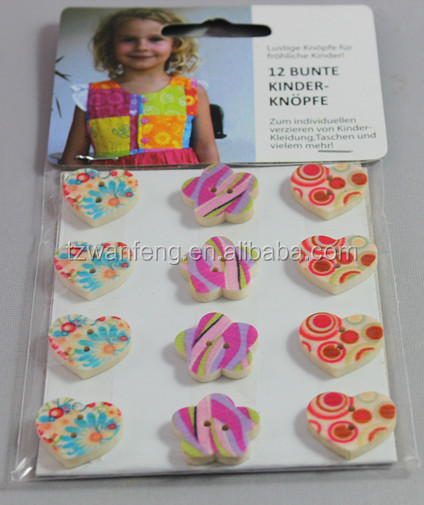 natural color wooden button for rhinestone buckles and brooches