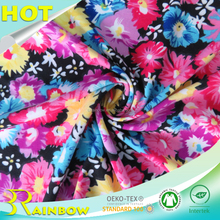 UV Protection 170gsm Polyester Spandex Printed Double Side Brushed Knit Fabric for Women