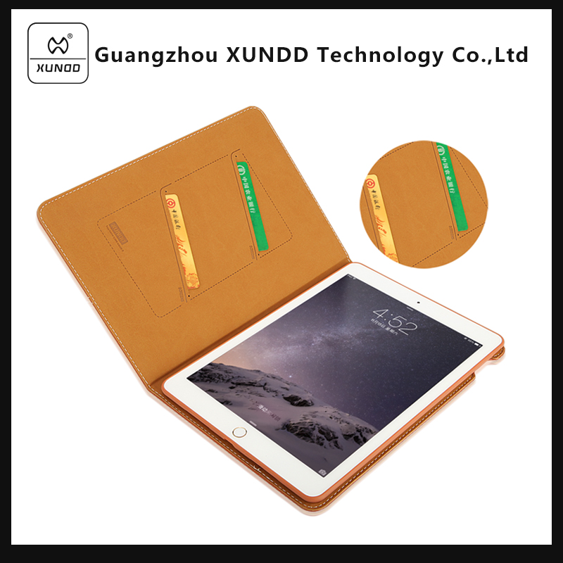 XUNDD Brand PU Leather Case for Ipad Pro 9.7 Inch with Card Slot 2017