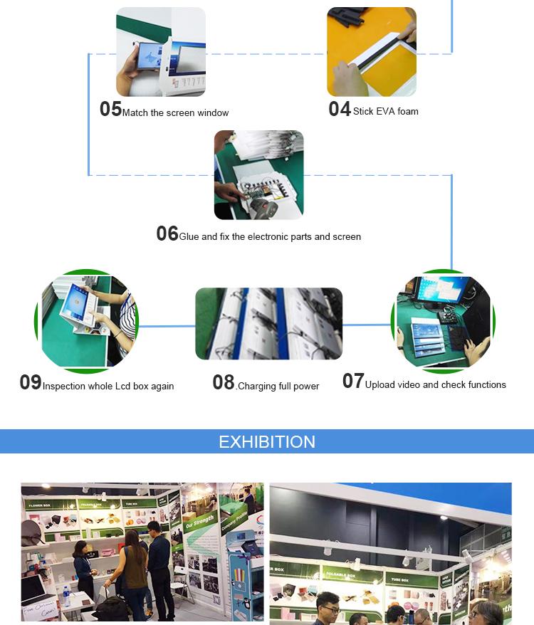 Caixa de vídeo goft atacado de fábrica com brochura de presente de tela lcd