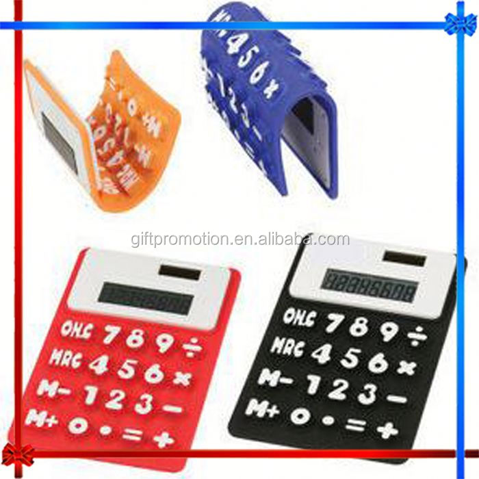 CY06 8-digit Silicone novelty desktop calculator