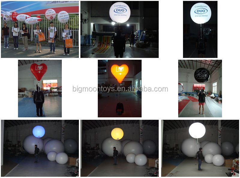 inflatable standing pole led balloon / inflatable backpack banner balloon