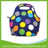 Custom Printed Insulated Neoprene Lunch Cooler Bag With Flower Painting