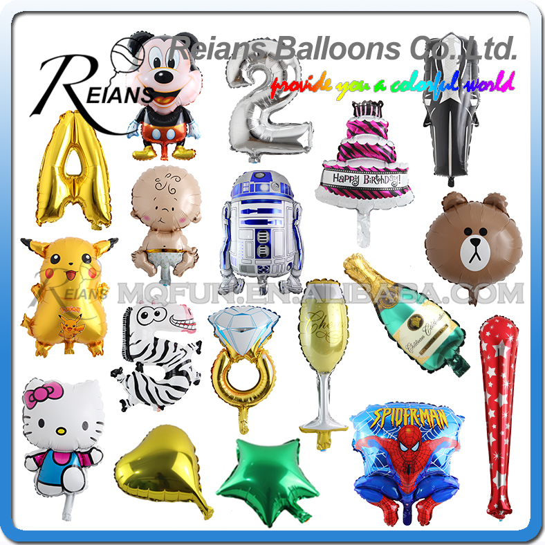 REIANS balloon metalic factory wholesales cartoon kawaii kids party decoration (accept OEM ODM)