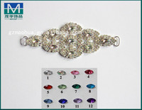 BKN149 SWIMWEAR CRYSTAL RHINESTONE BIKINI CONNECTORS /BUCKLE METAL CHAIN