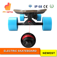 Electric Long Board Carbon Fiber Skateboard with Custom RF Remote Control