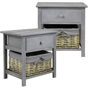 Grey Wicker Cabinet Smart China Luxury Space Saving Home Furniture