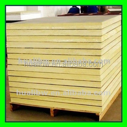 Insulation for wall and roof fiber glass wool panel, glasswool wall sandwich panel