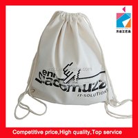 8OZ Cotton Drawstring Backpack Promotion Clinch Bag