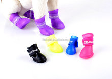 Waterproof Protective Rubber Pet Puppy Dog Rain Boots Shoes