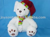 plush festival gift animal shaped toy with hat & scarf
