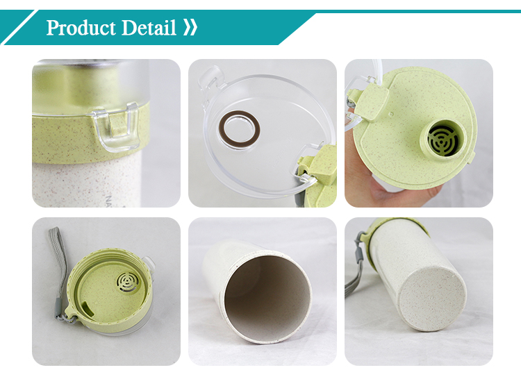 New design Wheat straw bottle cup  with degradable material for office and gift (MPDL)