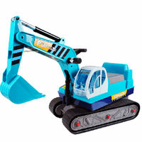 blue electronic toy logging trucks,ride on car