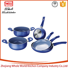 Marble coating with silicone handle chinese hot pot camping cookware mess kit kitchenware set