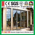 2017 hot sale power coating aluminum alloy panoramic doors