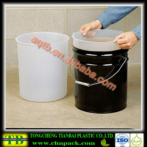 Plastic rigid round bottom drum liner