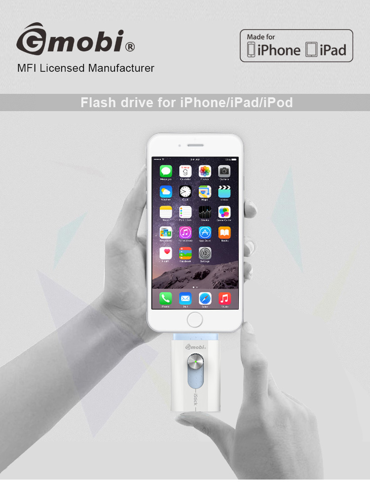 MFi Licensed Manufacturer Gmobi iStick usb flash drive Convenient For iPhone iPad iPod Computer