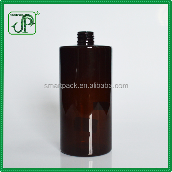 Classic Shampoo Packing Container Cylinder 500ml Amber Bottles Plastic