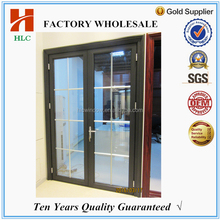 Office used aluminium alloy hollow glass swing open casement door
