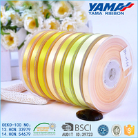 1/8 inch cheap golden satin ribbon for wedding dress