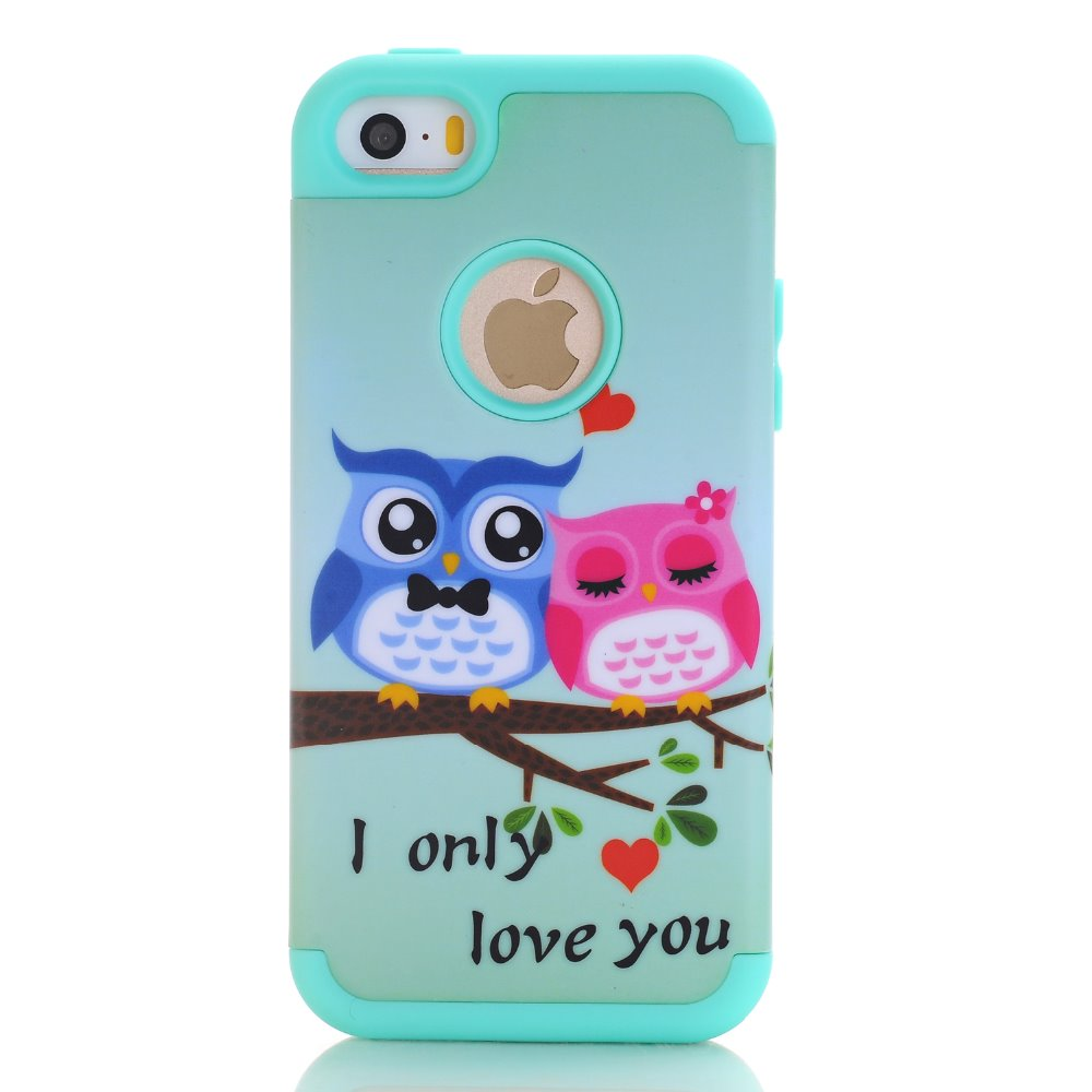 Loving Owls Tree Shockproof Hybrid Rubber Hard Cover Case for iPhone 6 6S