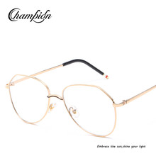 JCP102 Wholesale new fashionable Korean version city vision metal frame clear glasses uv400 womens sunglasses 2018