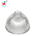 clear strippe pressed by machine hanging glass lamp shade