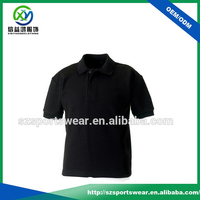 100% Cotton Confortable Men's Golf Polo Shirt In Black
