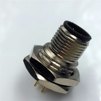 m12 connector waterproof threaded connector 3 4 5 8 12 pin