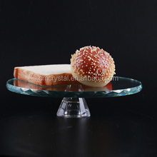 Round Crystal glass cake stand for wedding
