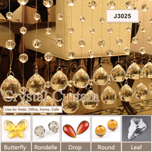 Qinan nan cheap wholesale handmade crystal bathroom curtain