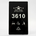 Super Thin Tempered Glass and Silver Frame Touch Screen Electronic Hotel Door Plate with DND MUR Bell