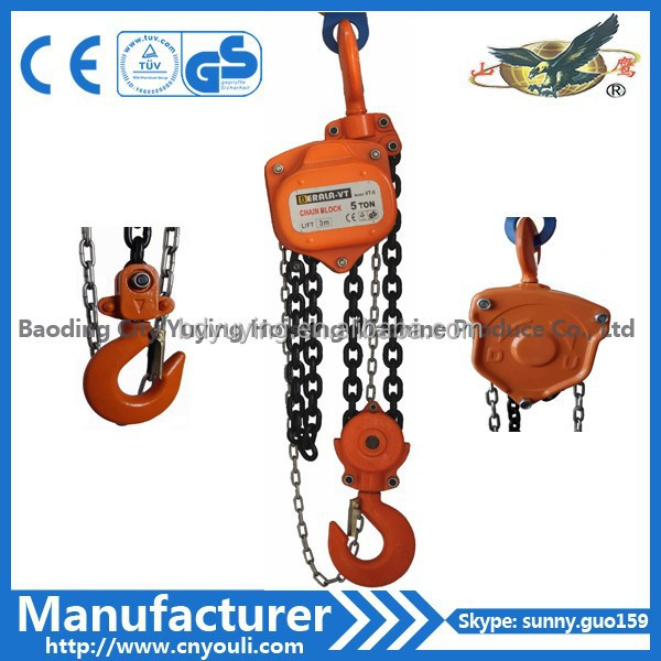 small lift crane chain block HSZ-VT hand lifting equipment