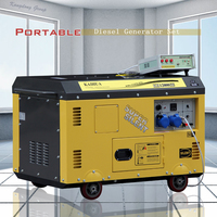 10kva Soundproof Portable Diesel Generator For