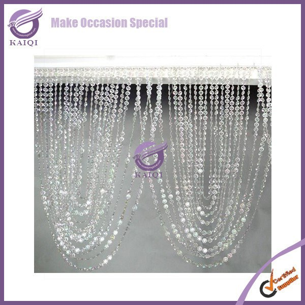 K4242 Hanging celling crystal beaded curtain room divider cheap