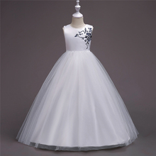 New style kids gown children wedding party wear long frock design for girls