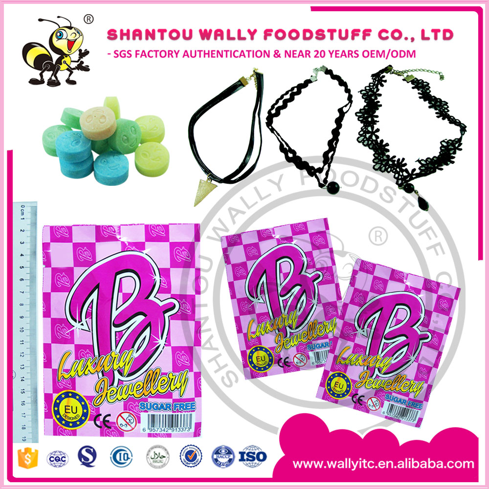 Fashion Necklace With Sugarfree Fruit Flavored Candy Choker Toys With Sugarfree Candy