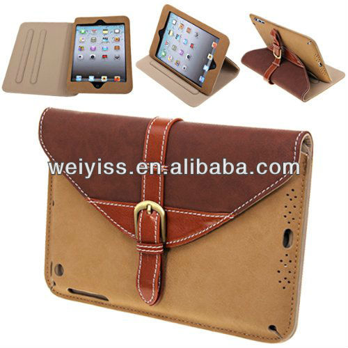 360 Degree Rotating Smart Cover Stand Belt Clip Leather Case for iPad Mini